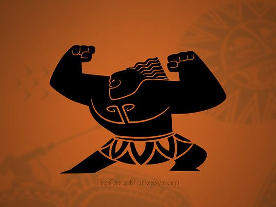 3b9eb8b2 Moana Maui vinyl decal - Disney Hawaiian Warrior - wall decal - car decal -  macbook decal- laptop sticker - made in USA - PopDecalsLab | PopDecalsLab  in ...