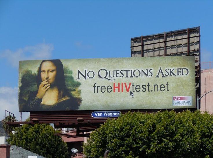 Mona Lisa AIDS Healthcare billboard