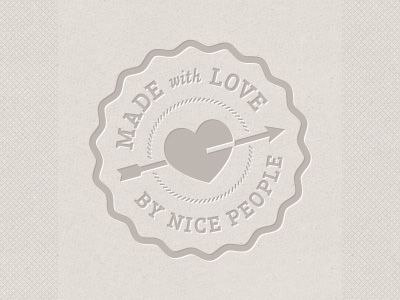 love the shape of the heart + surrounding hash mark circle in this logo by Nickerson Studios (http://dribbble.com/sethnick)