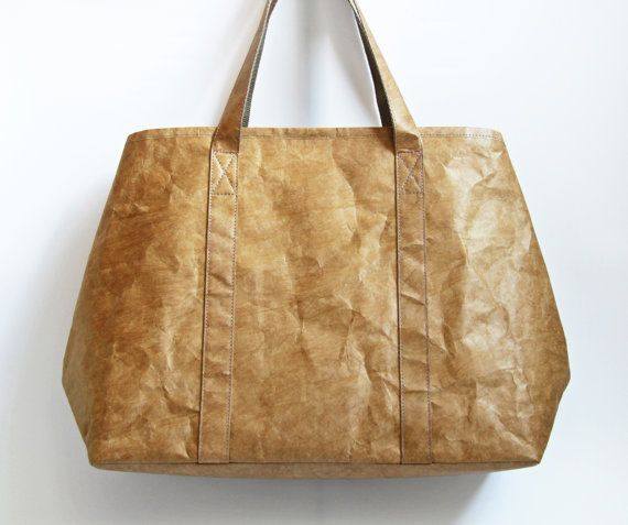 Minimalistische Tyvek papier Tote tas, lichtgewicht grote Tote tas / schouder tas / Commuter-Bag, gepersonaliseerde Tyvek papier Tote tas, giften voor haar