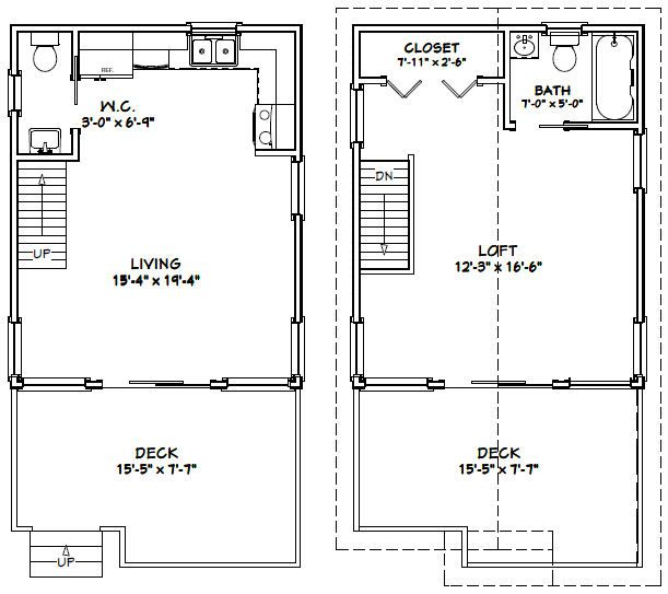 Enjoyable Inspiration Ideas 16 X 20 House Plans 12 16x20 W Loft On Home Design House Plans Floor Plans Tiny House Plans