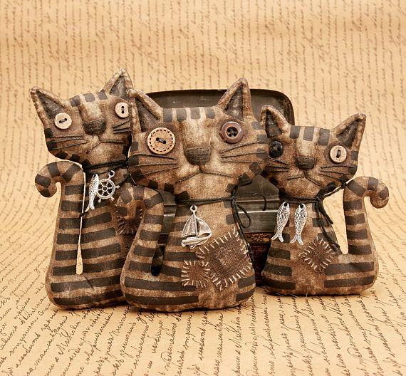 Примитивная Кошка Кукла Необычный Подарок Кот Любитель Народного Творчества Веселый Широкий Крайности Примитивного