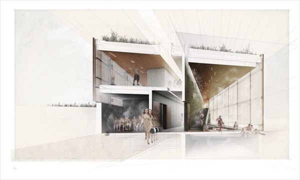 Wellness Center by Pavlo Kryvozub, via Behance