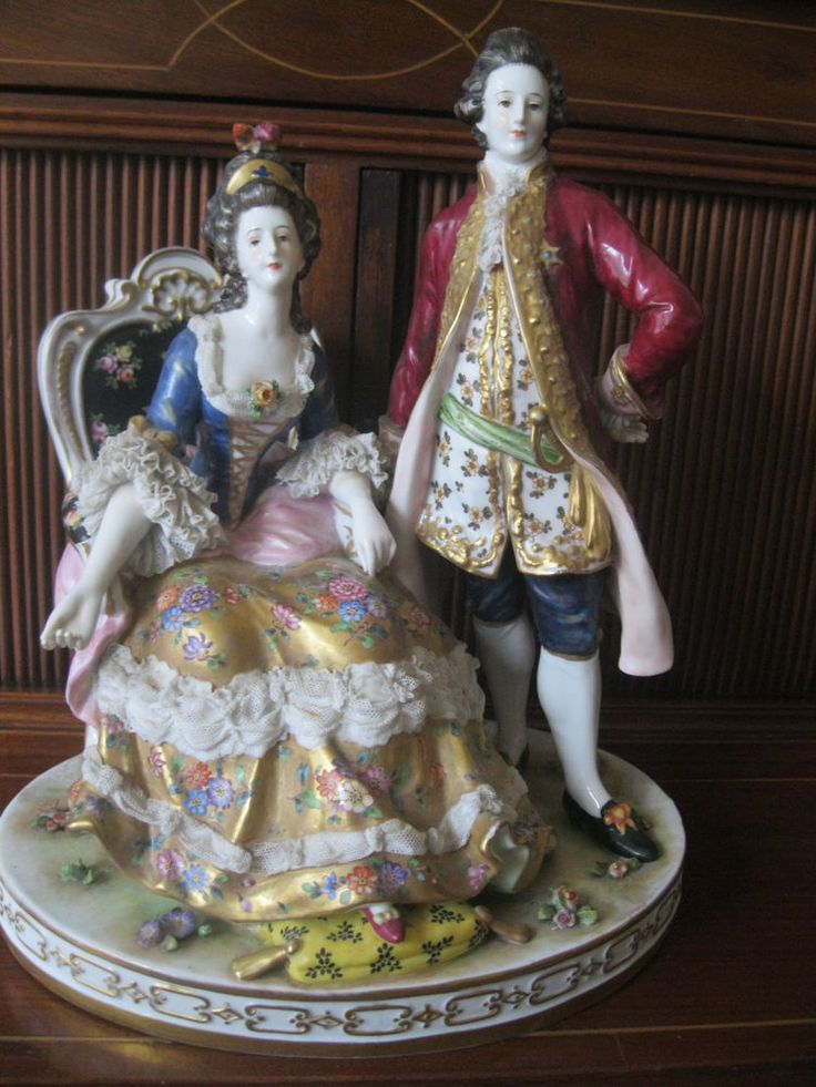 Antique Volkstedt German Porcelain Figurine Ceramics
