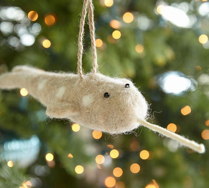 Felt Narwhal Ornament Our Narwhal The Unicorn Of The