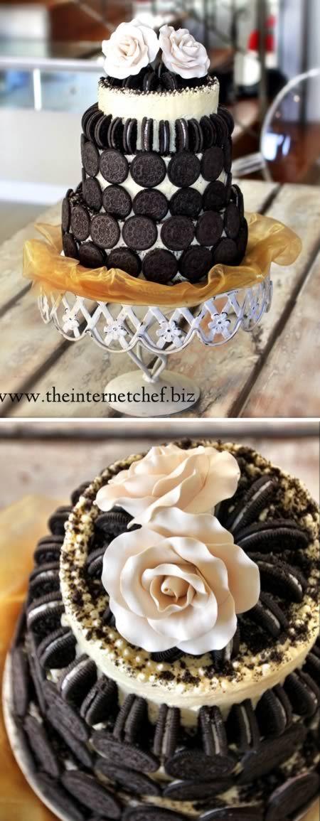OREO WEDDING CAKE. WHAT? Así será mi Pastel de Bodas <3
