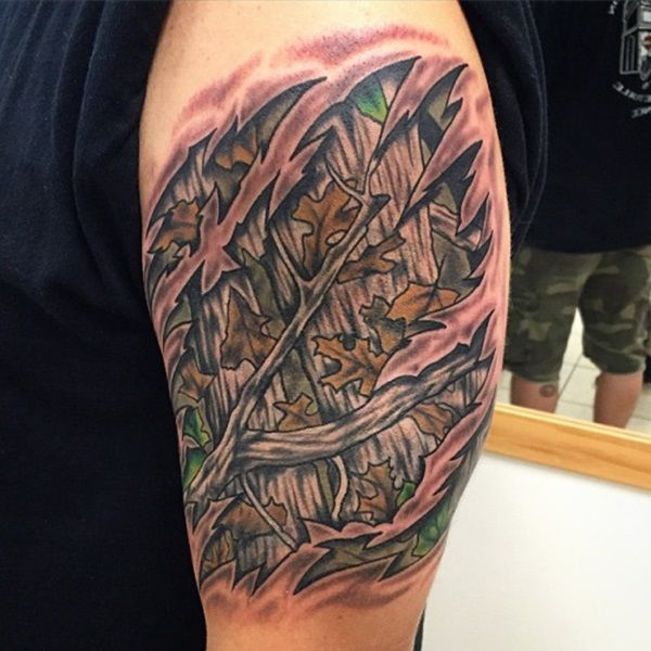 30 Awesome Camo Themed Tattoo Designs - The Tattoo Editor