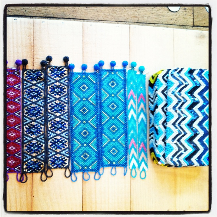 beads for the new season. beaded bracelets and beaded clutches!