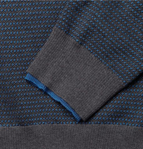 Alexander McQueenJacquard-Knit Wool and Silk-Blend Sweater