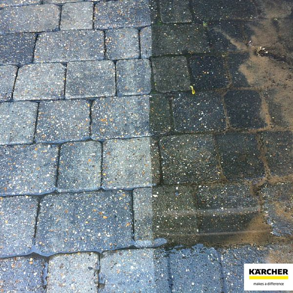 Before and after Karcher