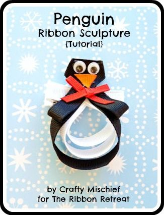 Penguin Ribbon Sculpture Tutorial - Basic Ribbon Sculpture Tutorial, get creative! {The Ribbon Retreat Blog}
