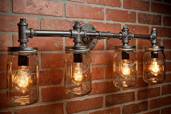 Add one of these mason jar lighting fixtures to your home for a touch of farmhouse style. We have options for you to purchase or make your own!