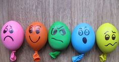 I couldn't resist making these stress ball balloons when I saw them here . These are basically balloons filled with playdough, with faces d...