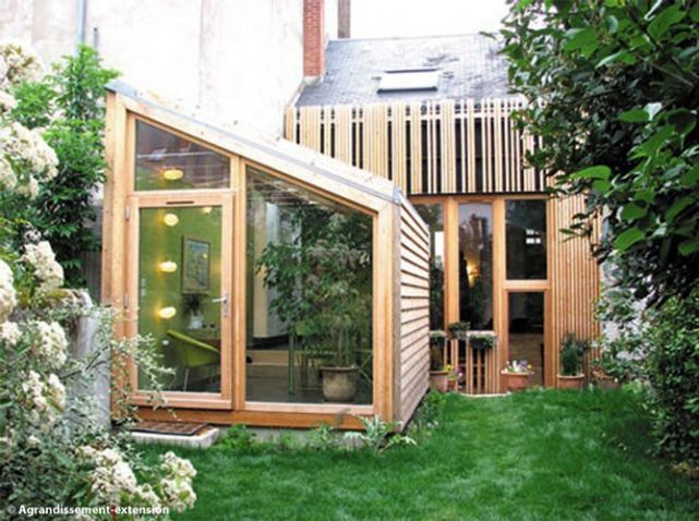 25 best ideas about extension en bois on pinterest maisons en bois pergola de terrasse and - Maison bois metal ...