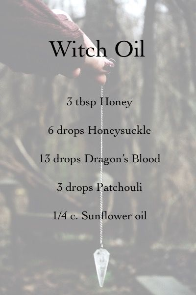 Mix all ingredients on a night of a Full Moon, and use it to anoint candles for all types of magic, divination, spirit communication, and invocations. From Celeste Rayne Heldstab's Llewellyn's Complete Formulary of Magical Oils original image here