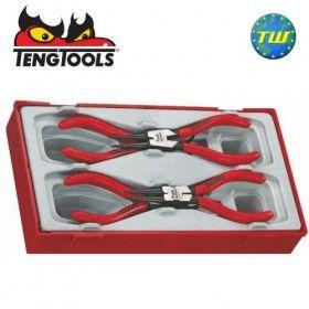 "Teng 4pc 5"" Mega Bite Circlip Plier Set 130mm TT474-5 - Tool Control System"