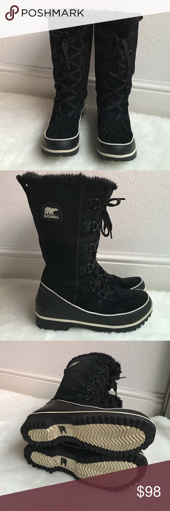 Sorel Tivoli High Winter Boots in Black size 8 Preowned worn once Sorel Tivoli High Winter Boots in Black size 8. Please look at pictures for better reference. Happy shopping! Sorel Shoes Winter & Rain Boots