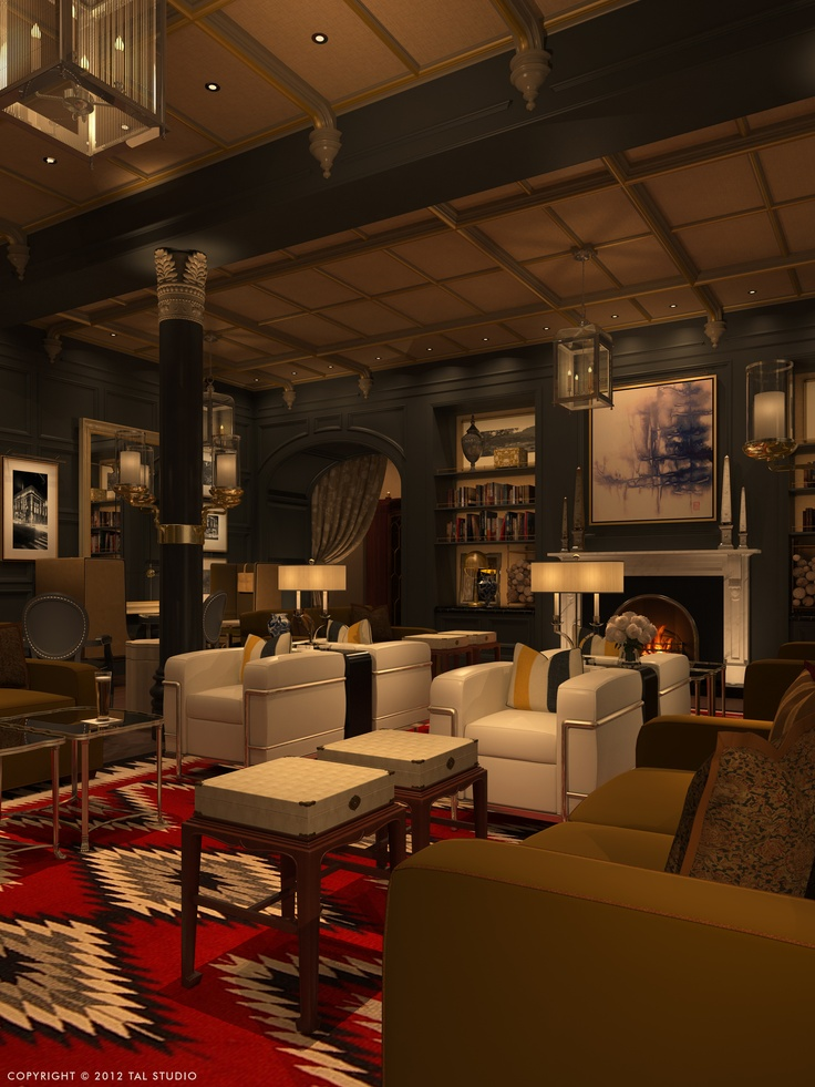 the living room at hotel jerome aspen colorado luxury http - Rustic Hotel 2015
