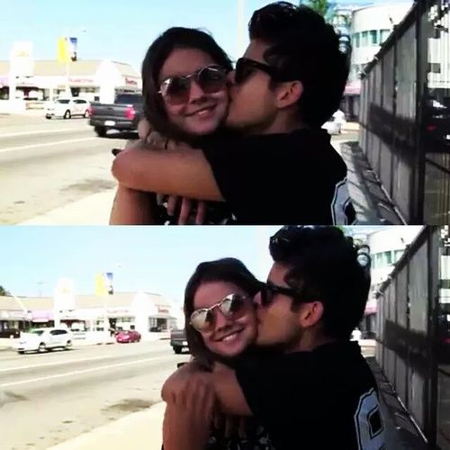 maia mitchell and rudy mancuso - Google Search Elegant romance,  cute couple,  relationship goals, prom, kiss, love,  tumblr, grunge, hipster, aesthetic, boyfriend, girlfriend, teen couple, young love