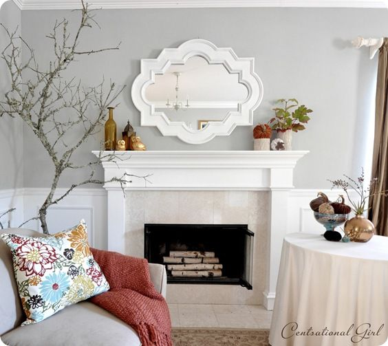 25 best ideas about fall fireplace mantel on pinterest. Black Bedroom Furniture Sets. Home Design Ideas