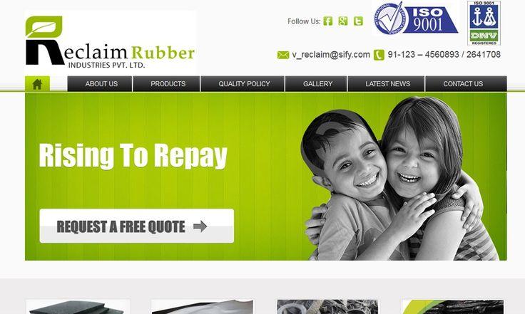 Reclaim Rubber Manufacturing Website Templates