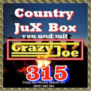 Country JuX Box 315 & Crazy Joe presents Crazy Joe 121 Hillcrest Special. Country music radio station specialists. Hillcrest Music radio promotions 2015.