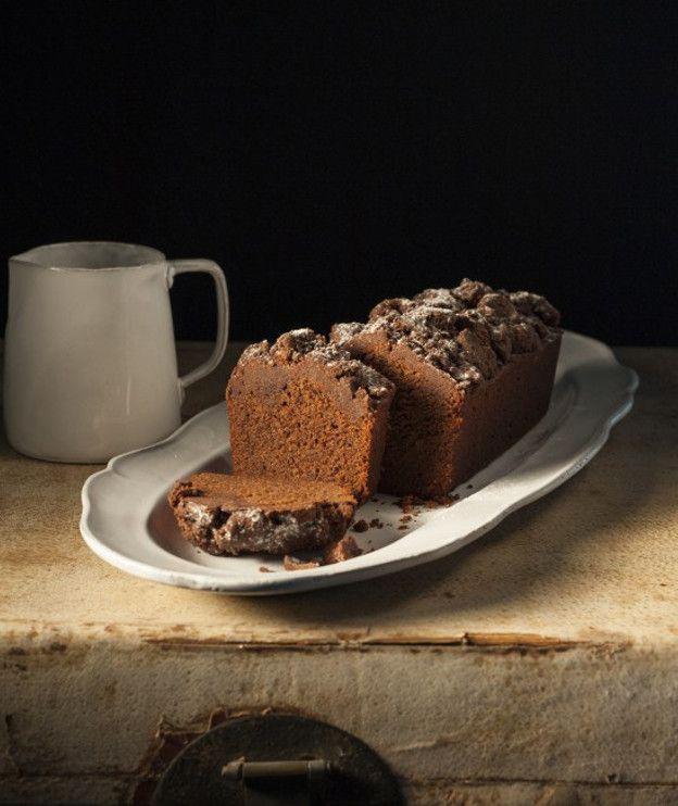 Κέικ με κραμπλ, κουβερτούρα και κανέλα