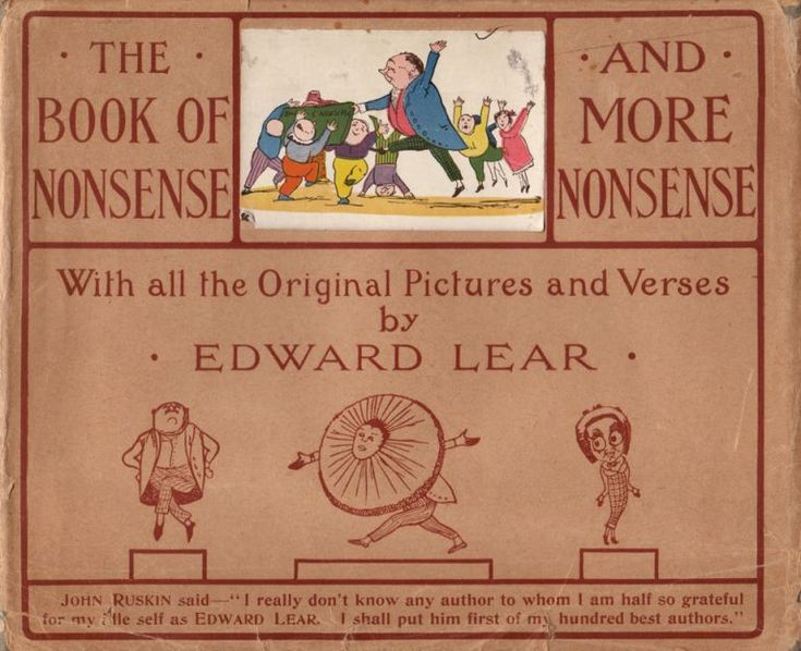 """The Book of Nonsense to Which is Added More Nonsense"" by Edward LEAR on Rare Illustrated Books  London: Frederick Warne and Co. no date circa 1900.  One of the most famous and popular collections of poems for children in English. #edwardlear #lear #limericks #nonsense #verse"