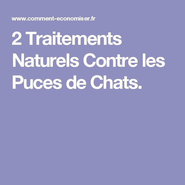 2 Traitements Naturels Contre les Puces de Chats.