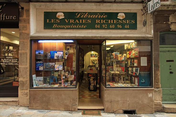 grasse france | ... Les Vraies Richesses - antiquarian bookstore - Grasse, France