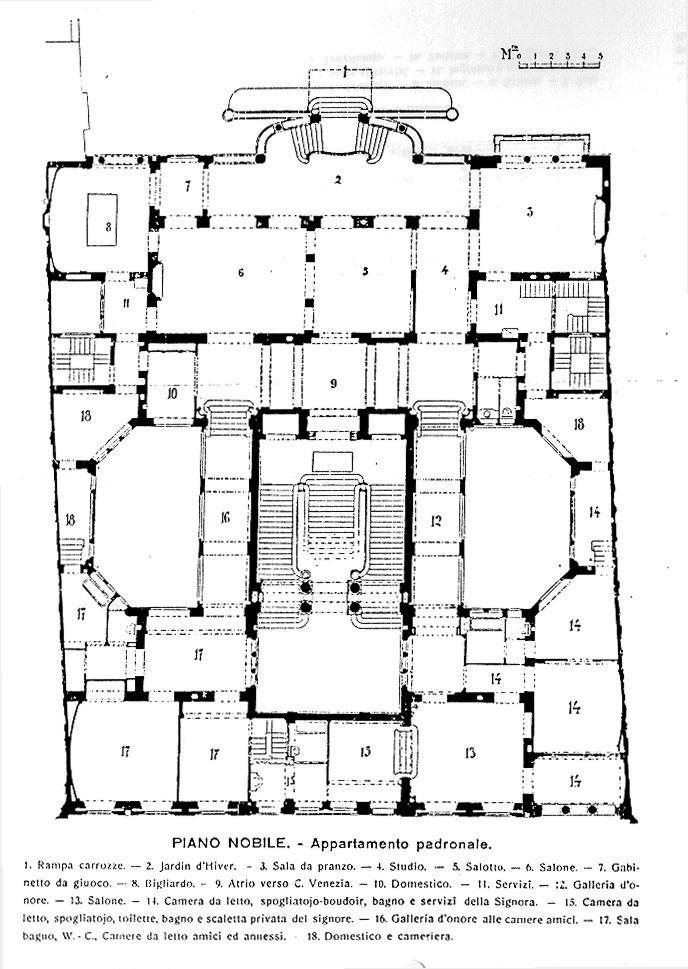 https://flic.kr/p/8Y2tBR   Corso Venezia, Palazzo Castiglioni, piantina