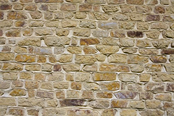 Horsham wall - cropped stone. Nicely weathered mortar joints - a more honey coloured stone