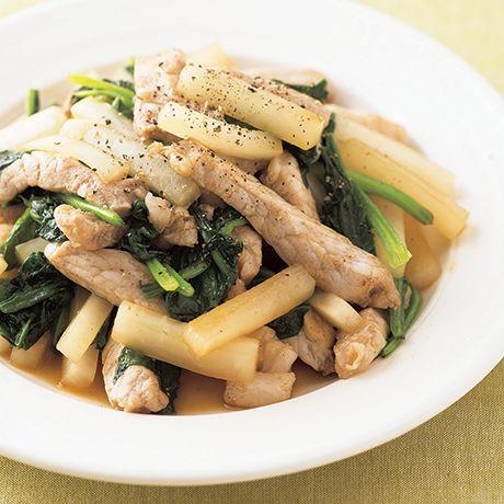 豚肉と大根のオイスター炒め | みないきぬこさんの炒めものの料理レシピ | プロの簡単料理レシピはレタスクラブネット