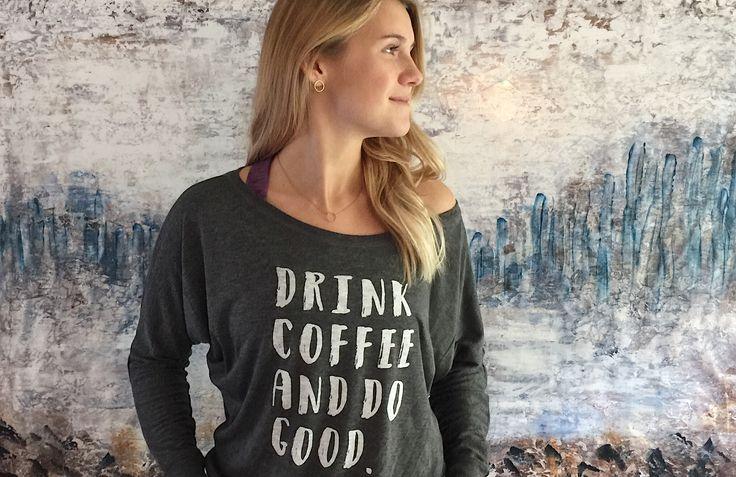 Coffee Tshirt - loose and flowy #tshirt #coffeeshirt #fashion #style #graphic tee