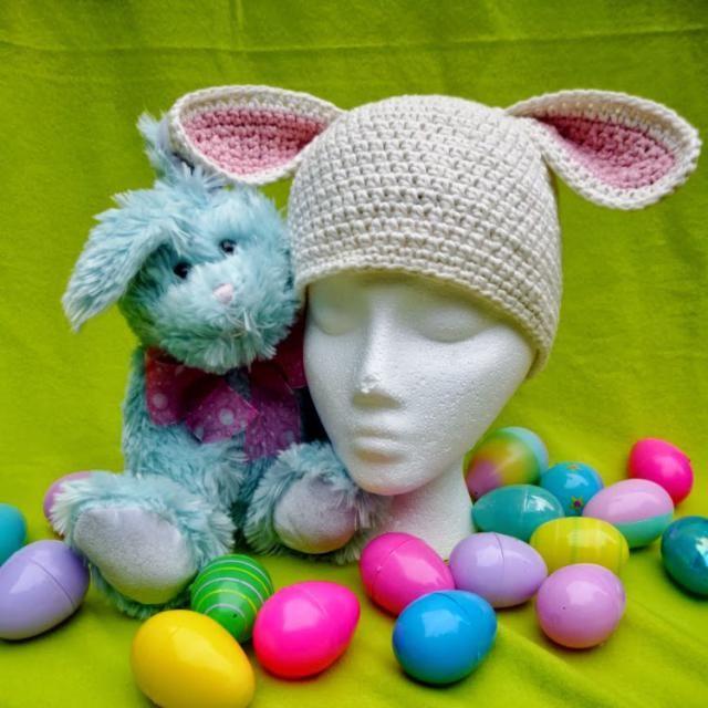 Easter Bunny Chemo Cap Free Crochet Pattern