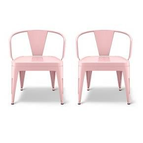 The Industrial Kids Activity Chair (Set of 2) from Pillowfort are a pair of sturdy, stackable seats just the right size for your little one. This set of chairs has a modern industrial size and comes in a choice of colors.