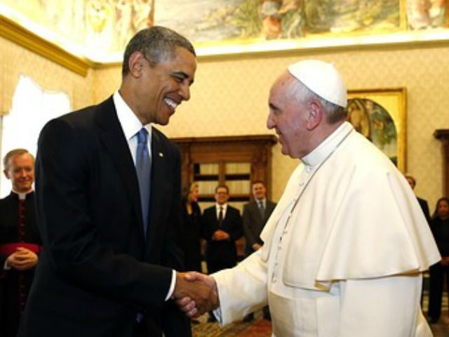 President Obama is packing the Pope's receiving line with dissenters from Catholic doctrine to greet him at the White House.