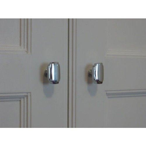 Croft 7006 Art Deco Cupboard Door Knobs In Chrome or Nickel from Cheshire Hardware | Door handles & door accessories | Cheshire Hardware