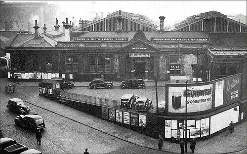 Leeds central station in the 1950's