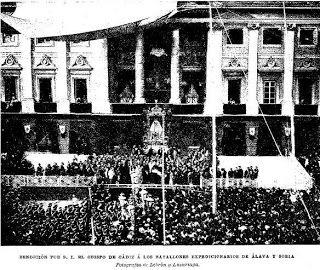 El Rosario en Cádiz: Misa de campaña en 1895Gracias a la prensa histórica (La Correspondencia de España y El Liberal de Madrid, 26/8/1895, La Ilustración Española y Americana 8/9/1895)…