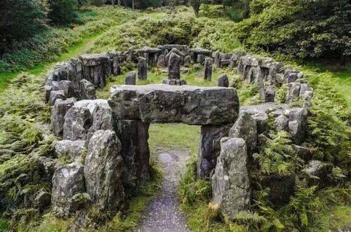 on holy ground (Druid's Temple, North Yorkshire)
