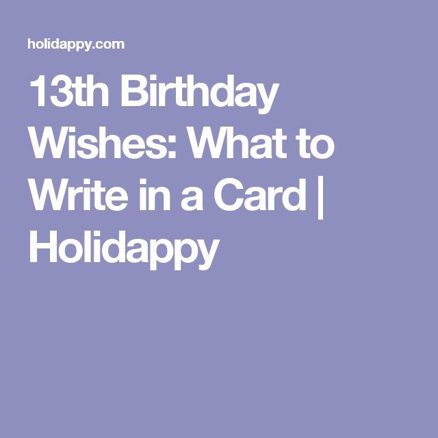 Best 25 13th Birthday Wishes Ideas On Pinterest