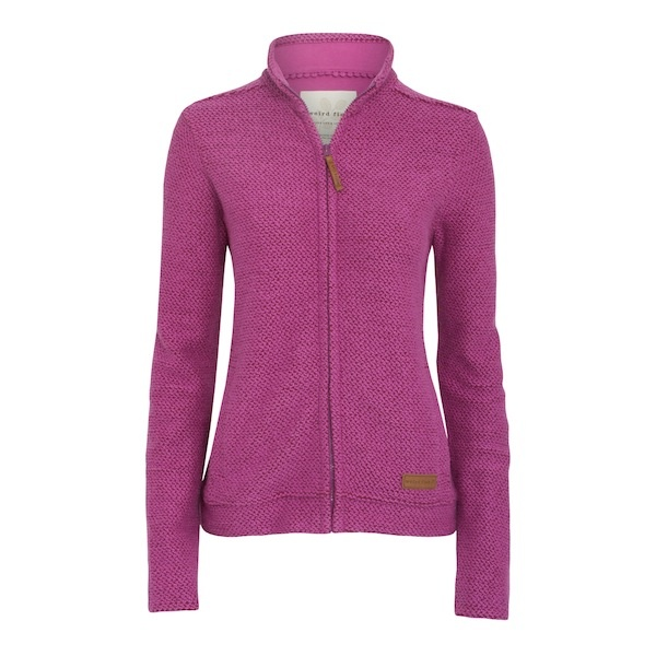 Ladies full zip Macaroni in a chunky soft cotton mix features hand pockets and dropped shoulders completed with a jersey lined back yoke. This Macaroni style gives the appearance of being a Jacket whilst keeping you as snug as a bug - you wont wear anything else!