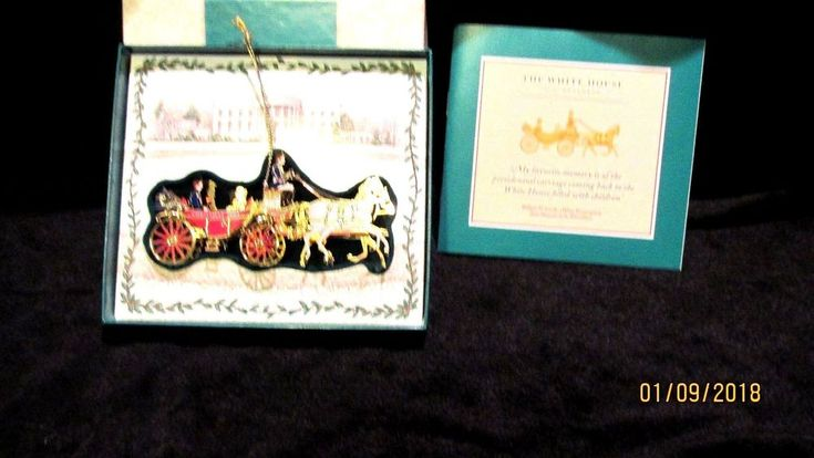 2001 Andrew Johnson 2001 The White House Christmas Ornament #WhiteHouseHistoricalAssociation