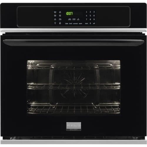 Frigidaire FGEW2765P 27 Inch 3.8 Cu. Ft. Gallery Single Electric Oven with True Convection, SpaceWise® Half Rack, and One (