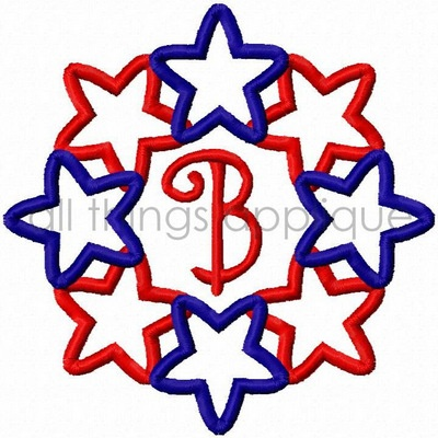 Patriotic Linking Stars - perfect for Memorial Day, 4th of July, and Labor Day - burp cloth? dish towel?