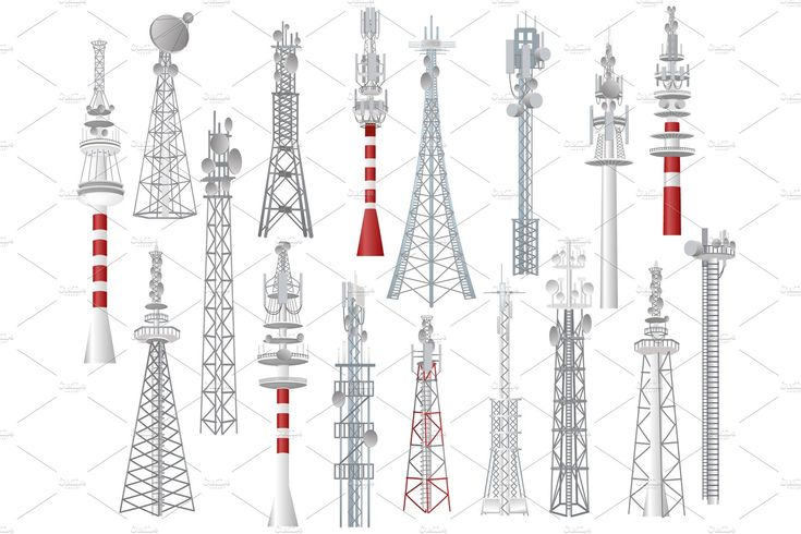 Radio tower vector towered , #Ad, #antenna#technology#