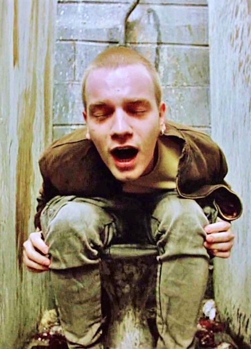 Ewan McGregor in Trainspotting, such an icky scene.... but such a good movie.