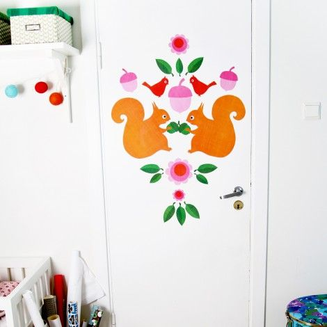 Wall stickers, Squirrel