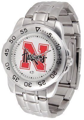Nebraska Cornhuskers Suntime Mens Sports Watch w/ Steel Band - NCAA College Athletics by SunTime. Save 29 Off!. $49.95. The Sport Steel watch by Suntime features your favorite team logo in a European styled stainless steel case with a stainless steel strap and security buckle.